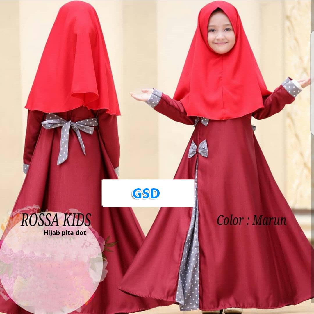 Hijab rossa kids maroon-hijab pita dot. Rp. 82.000,-