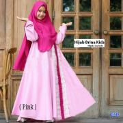 Hijab brina kids pink dusty hijab rina kids