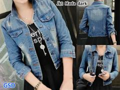 Jaket mada dark blue