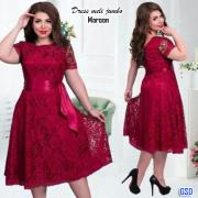 Dress Jumbo Meli maroon