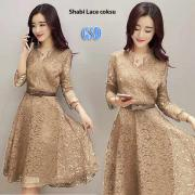 Dress shabi lace coksu
