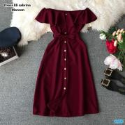 Dress lili sabrina maroon