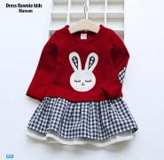 Dress rawnie kids maroon