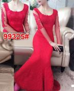 Long dress import 9325 red