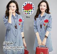 Tunik Square Bordir Biru