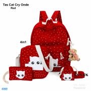 Tas Cat Cry onde red