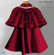 Dress Kelly kids maroon-dress elly