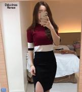 Chika dress maroon