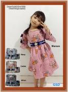 Dress kotak flow kids-dress bunga squary