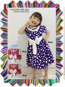 Dress balon kids onde-dress polka kids