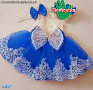 Dress princess kids biru