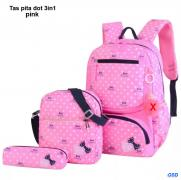 Tas pita dot 3in1 pink
