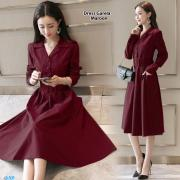 Dress garela maroon
