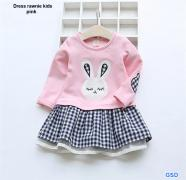 Dress rawnie kids pink