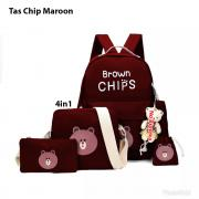 Tas chips 4in1 maroon