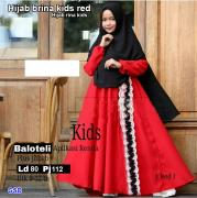 Hijab brina kids red-hijab rina kids