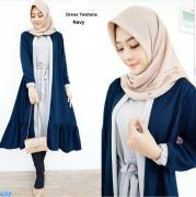 Dress twotone navy