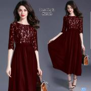 Dress Alegria maroon