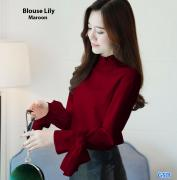 Blouse lily maroon
