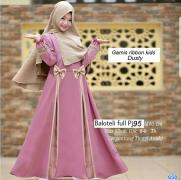 Gamis ribbon kids dusty