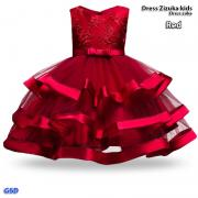 Dress Zizuka kids red-dress zuka