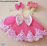 Dress princess kids pink