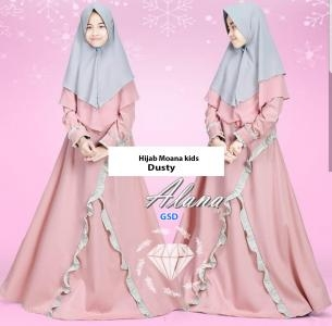 Hijab moana kids dusty