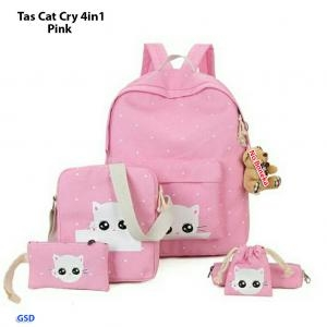 Tas DOT Cat Cry 4in1 pink