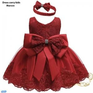 Dress corry kids maroon