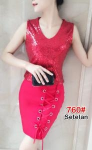 Setelan import 760 red