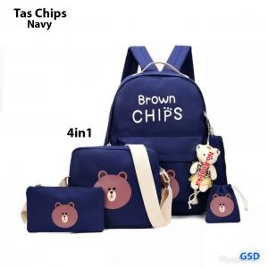 Tas chips 4in1 navy