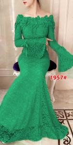 Dress import 1957 hijau