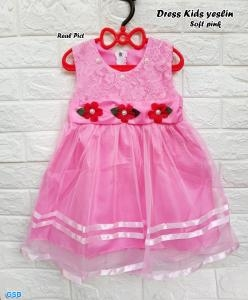 Dress kids yeslin soft pink