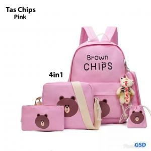 Tas chips 4in1 pink