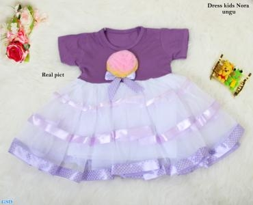 Dress kids nora ungu